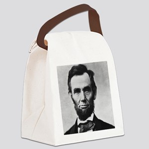 abe lincoln puzzle Canvas Lunch Bag